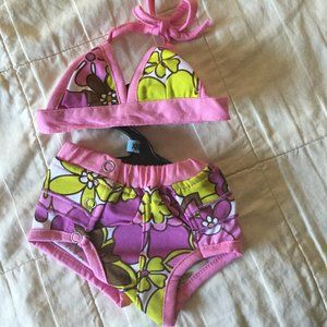 Casual Canine Maui Flowers Bikini for Dogs XXS